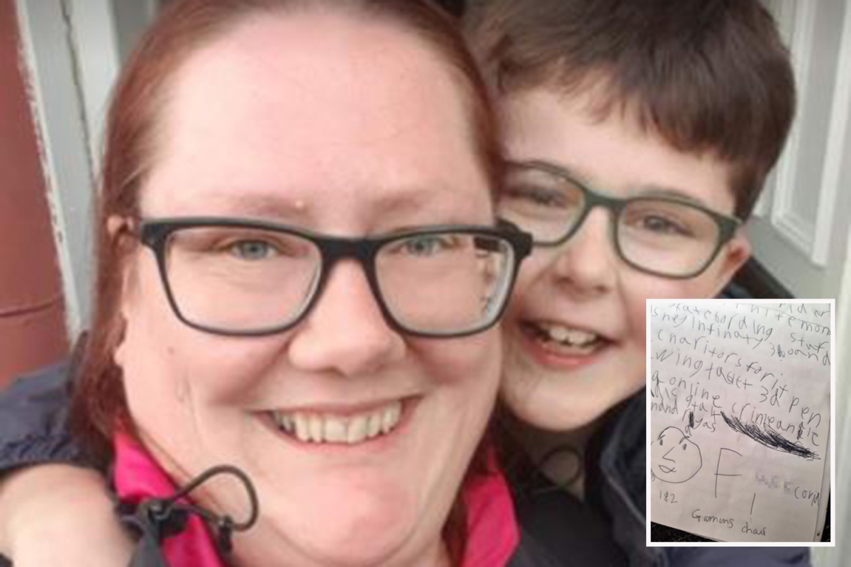 Boy, 8, says what we're all thinking in Christmas list to Santa as he writes 'f*** Covid'