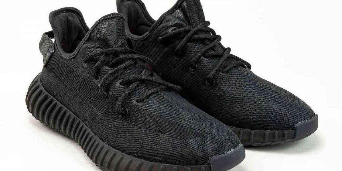 "New Release adidas Yeezy Boost 350 V2 ""Mono Black"" Running Shoes"